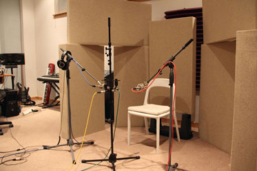 Acoustic Panels and Bass Traps used in studio live room
