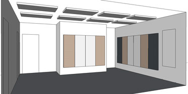 Acoustic treatment plan for meeting room